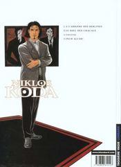 Niklos Koda t.1 ; à l'arrière des berlines - 4ème de couverture - Format classique