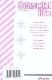 Shinobi life t.1 - 4ème de couverture - Format classique