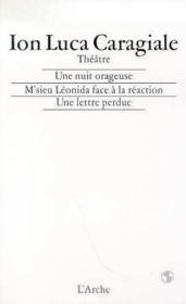 Une Nuit Orageuse - M'Sieu Leonida Face A La Reaction - Une Lettre Perdue - Couverture - Format classique