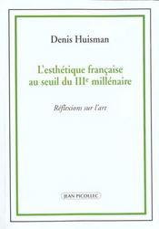 Esthetique Francaise Au Seuil Du Iiie Millenaire (L') - Intérieur - Format classique