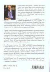 Esthetique Francaise Au Seuil Du Iiie Millenaire (L') - 4ème de couverture - Format classique