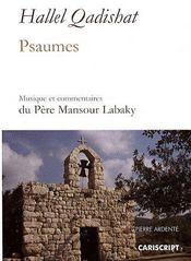 Hallel qadishat ; psaumes - Couverture - Format classique