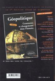 Geopolitique Des Etats-Unis Culture Interets Strategies - 4ème de couverture - Format classique