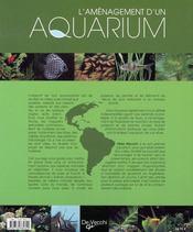 L'aménagement d'un aquarium - 4ème de couverture - Format classique