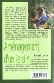 Aménagement d'un jardin - 4ème de couverture - Format classique