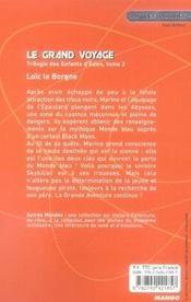 La trilogie des enfants d'éden t.2 ; le grand voyage - 4ème de couverture - Format classique