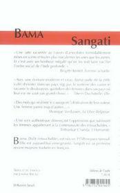 Sangati - 4ème de couverture - Format classique