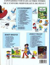 Schtroumpferies t.4 - 4ème de couverture - Format classique