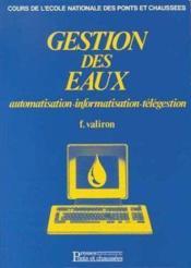 Gestion Des Eaux T.3 ; Automatisation - Couverture - Format classique