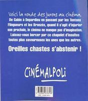 Cinemalpoli Ou Les Paroles Injurieuses Du Cinema - 4ème de couverture - Format classique