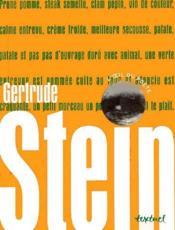 Gertrude Stein - Couverture - Format classique