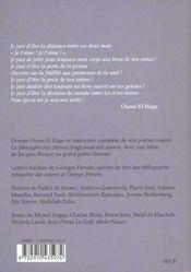 Revue Arapoetica - 4ème de couverture - Format classique