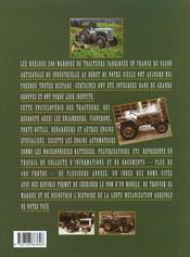 Encyclopedie Des Tracteurs Agricoles Francais - 4ème de couverture - Format classique