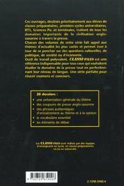 Les Dossiers Classes De La Presse Anglo-Saxonne Tome 1 - 4ème de couverture - Format classique