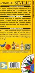 Séville ; Andalousie - 4ème de couverture - Format classique