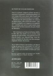 Etre Sans Destin ; Le Livre Du Film - 4ème de couverture - Format classique