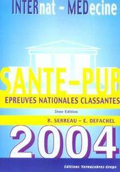 Sante-Pub 2004 ; Epreuves Nationales Classantes - Intérieur - Format classique