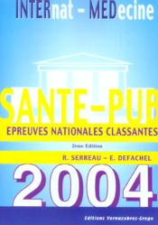 Sante-Pub 2004 ; Epreuves Nationales Classantes - Couverture - Format classique