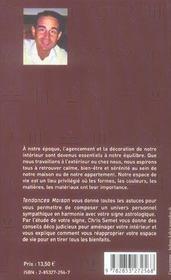 Tendances Maison - 4ème de couverture - Format classique