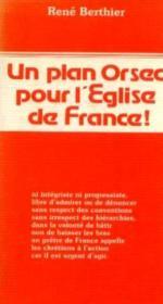 Plan Orsec Pour Eglise France - Couverture - Format classique