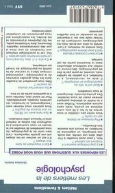Metiers De La Psychologie 2000 - 4ème de couverture - Format classique