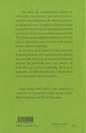 Cinquieme Pas Est L'Adieu (Le) - 4ème de couverture - Format classique