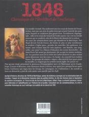 1848, chronique de l'abolition de l'esclavage - 4ème de couverture - Format classique