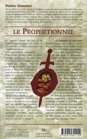 Le prophétionnel ; la théorie du bouclier - 4ème de couverture - Format classique