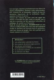 Les Dossiers Classes De La Presse Anglo-Saxonne Tome 2 - 4ème de couverture - Format classique