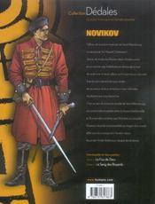 Novikov T.2 ; Le Sang Des Boyards - 4ème de couverture - Format classique