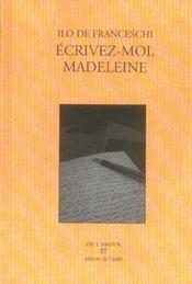 Écrivez-moi, Madeleine - Intérieur - Format classique