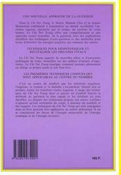 Chi nei tsang, massage chi des organes internes - 4ème de couverture - Format classique