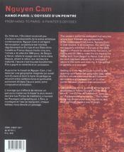 Nguyen Cam ; Hanoi-Paris ; L'Odyssee D'Un Peintre - 4ème de couverture - Format classique