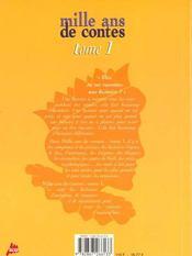 Mille ans de contes t.1 - 4ème de couverture - Format classique