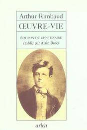 Rimbaud, Oeuvre-Vie - Intérieur - Format classique