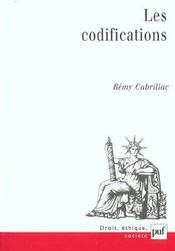 Vente  Les codifications  - Remy Cabrillac