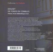 Les Tresors Du Fonds Doucet - 4ème de couverture - Format classique