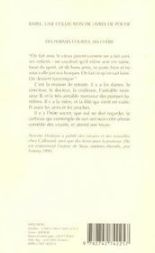 Des Phrases Courtes, Ma Cherie - 4ème de couverture - Format classique