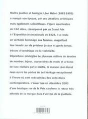 Leon Hatot - 4ème de couverture - Format classique
