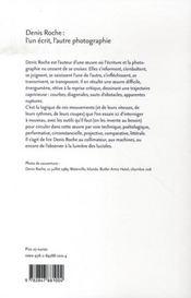 Denis roche ; l'un écrit, l'autre photographie - 4ème de couverture - Format classique