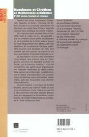 Musulmans Et Chretiens En Mediterranee Occidentale Xi-Xii Siecles - 4ème de couverture - Format classique