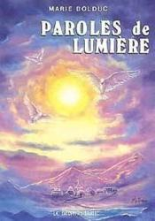 Paroles De Lumiere - Couverture - Format classique