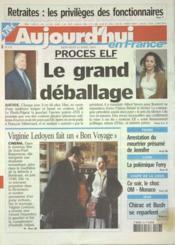 Aujourd'Hui En France N°572 du 16/04/2003 - Couverture - Format classique