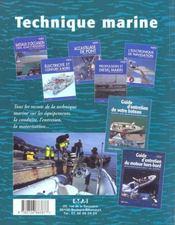 Guide D'Entretien Des Bateaux Pneumatiques - 4ème de couverture - Format classique