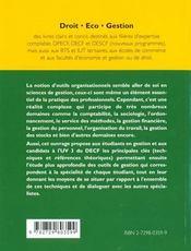 Les Outils Organisationnels - 4ème de couverture - Format classique