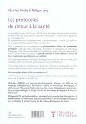 Protocoles De Retour A La Sante (Les) - 4ème de couverture - Format classique