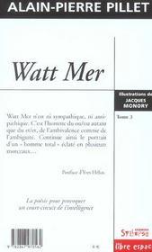 Watt Mer T3 - 4ème de couverture - Format classique