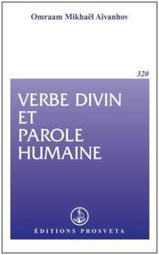 Verbe divin et parole humaine - Couverture - Format classique