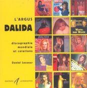 L'Argus Dalida ; Discographie Mondiale Et Cotations - Intérieur - Format classique