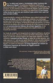 La Bible avait raison t.2 ; sur les traces de Moïse et de l'Exode - 4ème de couverture - Format classique